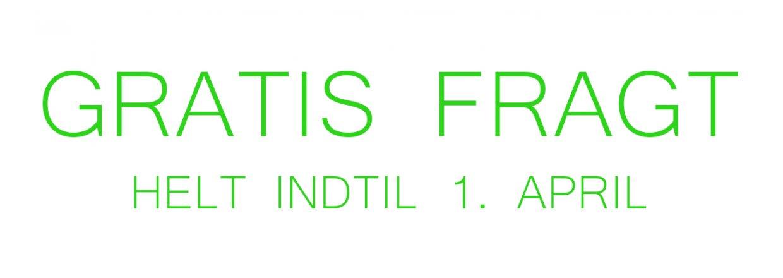FRI FRAGT INDTIL 01.04.17. HURTIG LEVERING 1-3 HVERDAGE.<br>